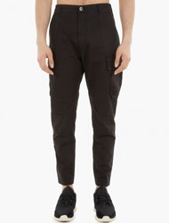 Stone Island Black Cotton Chino Trousers