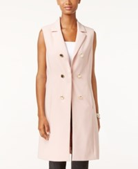 Vince Camuto Double Breasted Vest Rosy Flush
