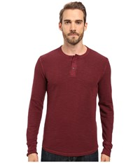 Lucky Brand Thermal Henley Port Royale Men's Clothing Burgundy