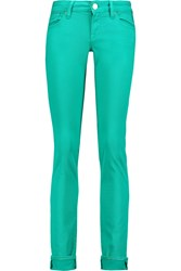 M Missoni Low Rise Straight Leg Jeans Green