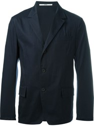 Kenzo Three Button Blazer Blue