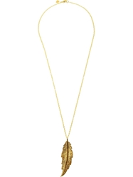 Leivankash Feather Necklace Metallic