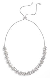 Kendra Scott Women's 'Andrina' Crystal Collar Necklace Silver Lustre Color Mix