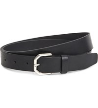 Sandro Casual Loop Leather Belt Black