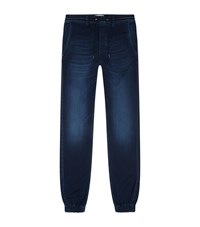 7 For All Mankind Cuffed Jean Joggers Male Blue