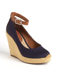 Bcbgeneration Gracyn Espadrille Platform Wedge Pumps Navy Ottoman