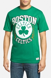 Mitchell And Ness 'Boston Celtics Shooting Stars' Tailored Fit Graphic T Shirt Kelly Green