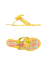 Nine West Thong Sandals Yellow