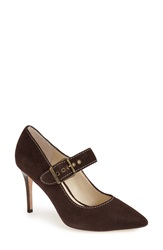 Bettye Muller 'Gibs' Mary Jane Pump Women Brown Suede