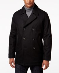 Inc International Concepts Men's Amberson Double Breasted Pea Coat Only At Macy's Black