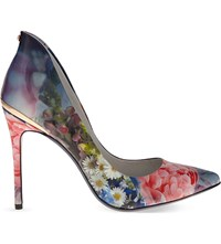 Ted Baker Floral Patent Leather Courts Powder Blue