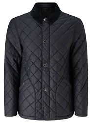 John Lewis And Co. Waxed Cotton Quilted Jacket Navy