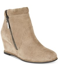 Kenneth Cole New York Vivian Wedge Booties Women's Shoes Putty