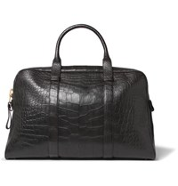Tom Ford Buckley Alligator Briefcase Black