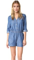 Bb Dakota Jack By Alan Romper Medium Wash Chambray