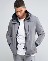 Firetrap Hooded Funnel Neck Jacket Grey
