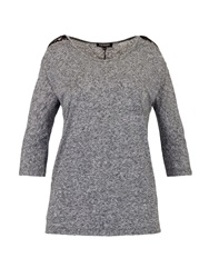 Morgan 3 4 Sleeve T Shirt With Lace Shoulders Grey
