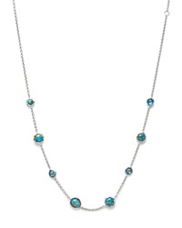 Ippolita Sterling Silver Rock Candy Necklace In Bronze Turquoise Doublet 16