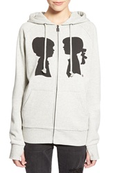 Boy Meets Girl 'Coco' Logo Full Zip Hoodie Heather Grey