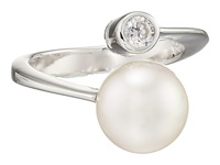 Majorica 10Mm Pearl Cz Wrap Ring Silver White Ring