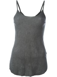 Lost And Found Ria Dunn Back Sheer Cami Top Grey