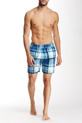 Farah Monroe Check Swim Short Blue