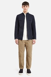 Christophe Lemaire Officer Collar Jacket Midnight Blue