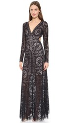 Temperley London Long Nomi Backless Dress Black