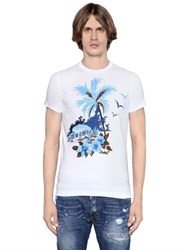 Dsquared2 Sexy Slim Fit Palm Cotton Jersey T Shirt