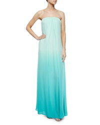 Young Fabulous And Broke Karissa Strapless Ombre Maxi Dress Turquoise