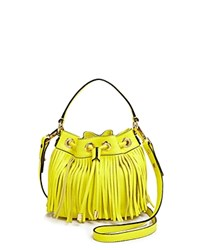 Milly Crossbody Essex Fringe Small Drawstring Citron