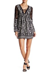 Trixxi Lace Up Crepe Dress Black