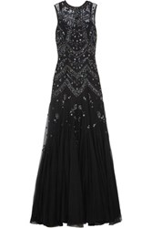 Needle And Thread Embellished Tulle Gown Black