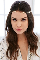 Urban Outfitters Solstice Goddess Chain Headwrap Gold