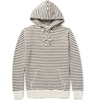 Saturdays Surf Nyc Ditch Striped Loopback Cotton Jersey Hoodie Neutrals