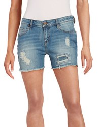 William Rast Distressed Jean Shorts Blue