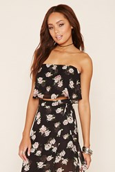 Forever 21 Flounced Floral Crop Top