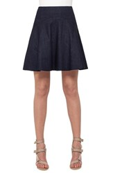 Women's Akris Punto Flounce Hem Denim Skirt