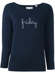 Chinti And Parker 'Friday' T Shirt Blue