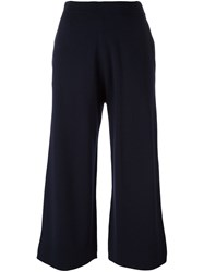 Allude Cropped Trousers Blue