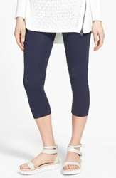 Women's Nordstrom 'Go To' Capri Leggings Navy Iris