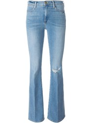 Frame Denim 'Le High Flare' Jeans Blue