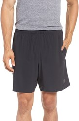 New Balance Men's 2 In 1 Woven Athletic Shorts Black