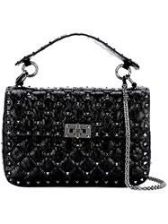 Valentino 'Rockstud' Quilted Tote Black