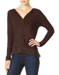 Sanctuary Hanna Layered Hem Tee Rich Chocolate