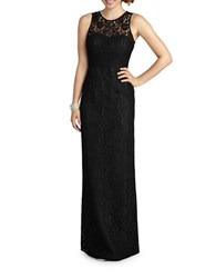 Donna Morgan Sleeveless Illusion Gown Black