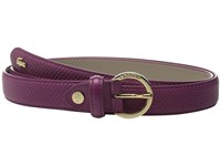 Lacoste Premium Chantaco Coated Leather Belt Boysenberry Women's Belts Pink