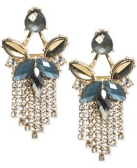 Lonna And Lilly Gold Tone Stone Fringe Chandelier Earrings Blue