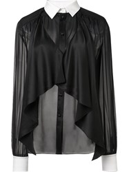 Rachel Zoe Draped Shirt Black