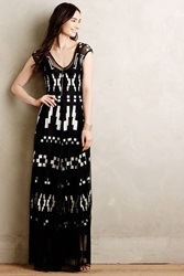 Biya Symbology Maxi Dress Black Motif